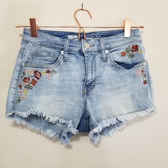 Mossimo Supply Co. Pants - Mossimo denim embroidered high rise short (f)